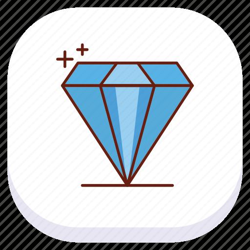 day, diamond, happy, mothers icon