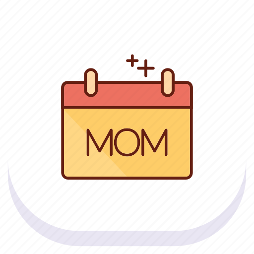 calender, day, happy, mom, mothers icon