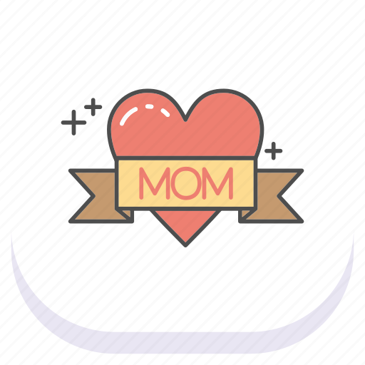 day, happy, heart, mom, mothers icon