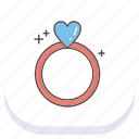 day, happy, mothers, ring icon