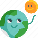 world, ozone, layer, protects, hot, sun, love icon