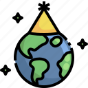 earth, day, party, hat, ecology, environment, world