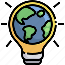 earth, hour, light, bulb, grid, world, global