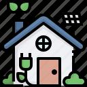 eco, house, green, solar, ecology, environment