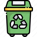 recycle, bin, trash, can, ecology, garbage