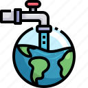 water, faucet, ecology, global, warming, globe, grid
