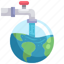 water, faucet, ecology, global, warming, globe, grid
