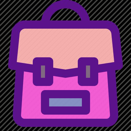 bag, lady, travel icon