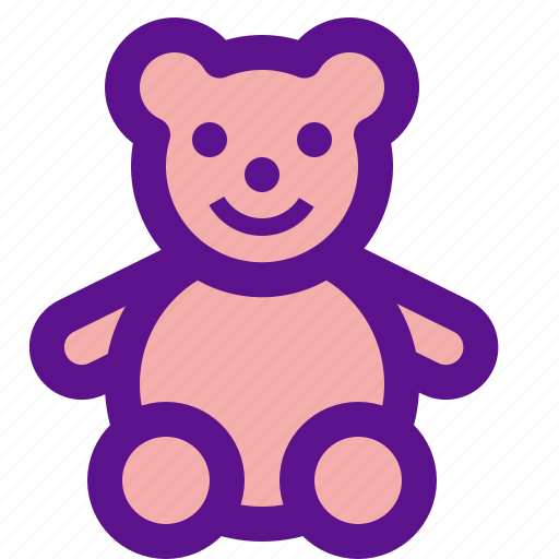 bear, lady icon