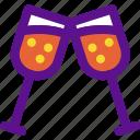 champagne, glasses, lady, wine icon