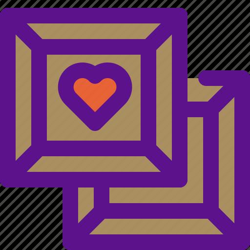 choco, heart, lady, love icon