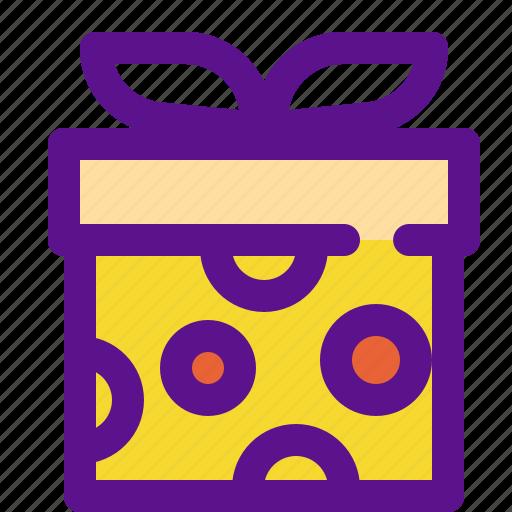 box2, gift, lady icon