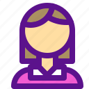 avatar, female, lady, mother, user icon