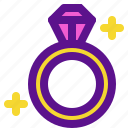 engagement, lady, marriage, ring icon
