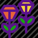 flowers, jewel, lady, roses icon