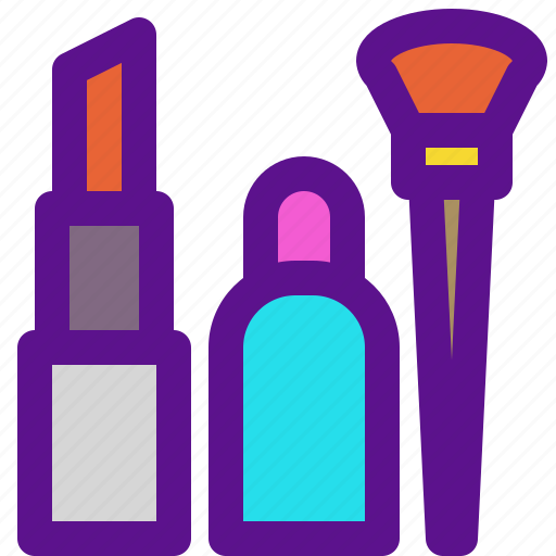 lady, makeup, tools icon