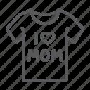 clothes, i, love, mom, mother, shirt, tshirt icon