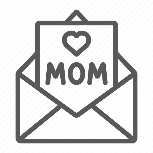 Card, envelope, for, heart, letter, mail, mom icon - Download on Iconfinder
