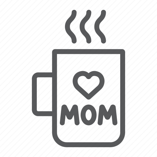 Cup, heart, inscription, love, mom, mug, utensil icon - Download on Iconfinder
