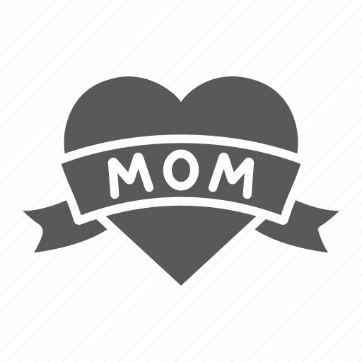 day, heart, inscription, love, mom, mother icon