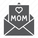 card, envelope, for, heart, letter, mail, mom