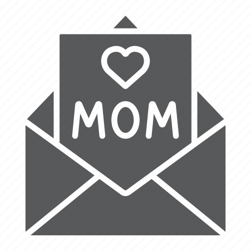 card, envelope, for, heart, letter, mail, mom icon