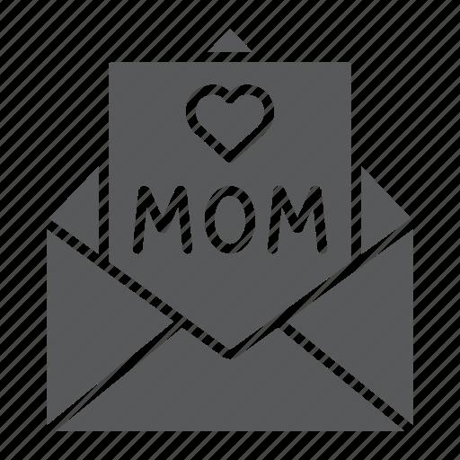 Card, envelope, for, heart, letter, mail, mom icon - Download on Iconfinder