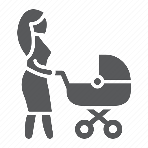 Baby, carriage, child, love, mom, mother, woman icon - Download on Iconfinder