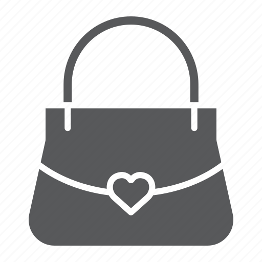 Bag, female, handbag, heart, purse, women icon - Download on Iconfinder