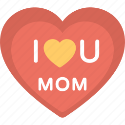 banner, heart logo, mom love, mother day badge, mother day card icon