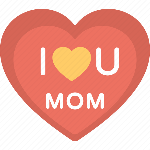 banner heart logo mom love mother day badge mother day card icon