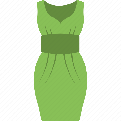 frock, outfit, partywear, sleeveless dress, women dress icon