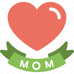 greeting card, love regards, loving mom, mom heart, mother day concept icon