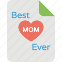 event celebration, greeting card, mother day, mother honor day icon