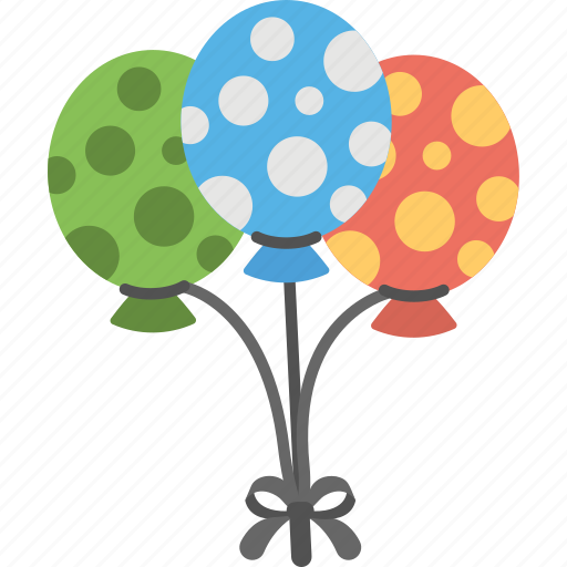balloons, decoration accessory, flying balloon, mother day celebration, oval balloon icon