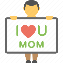 greeting card, kids emotion, kids love, love card, mother love icon