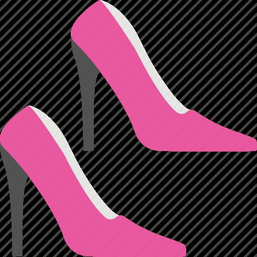 footwear, heel shoes, high heel, shoes, women shoes icon