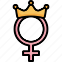 female, woman, mom, gender, crown, symbol, mothers day icon
