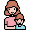 mom, mother, kid, motherhood, maternity, son, mothers day icon