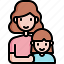 mom, mother, kid, motherhood, maternity, daughter, mothers day icon