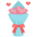 rose, bouquet, mom, heart, flower, blossom, mothers day icon