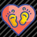 baby, barefoot, foot, footprint, footprints, kid, miscellaneous icon