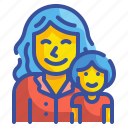 baby, daughter, girl, kid, mom, mother, woman icon