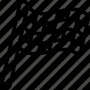 finish, flag, racing icon