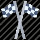 crown, flag, races, racing, wheel