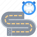 chronometer, race, running, sport, sports, time, track icon
