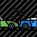 car, cars, crash, security, transport, vehicle, warning icon