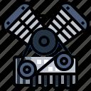 car, electronics, engine, garage, miscellaneous, motor, transportation icon