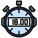 chronometer, interface, stopwatch, time and date, timer icon