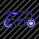 bike, contour, motorbike, motorcycle, sport icon